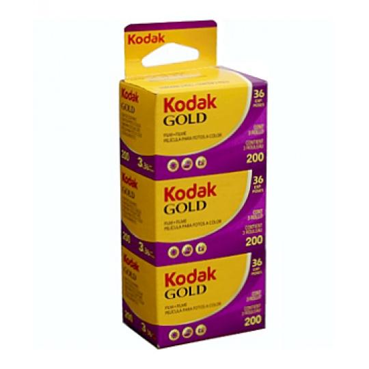 Kodak Gold 200/36 barevný negativní kinofilm 3 ks