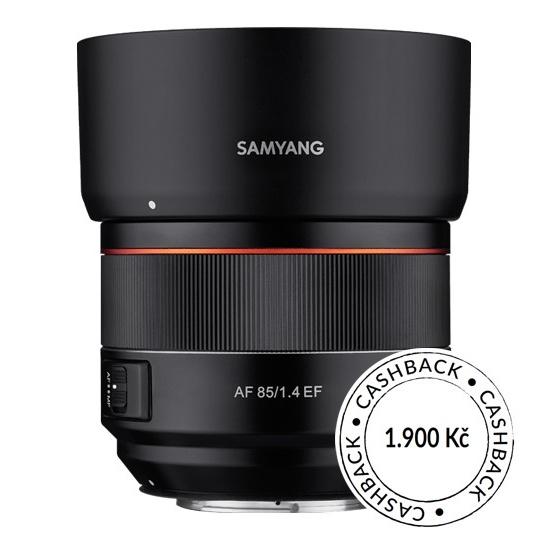 Samyang AF 85mm f/1.4 Canon EF, CashBack 1900 Kč