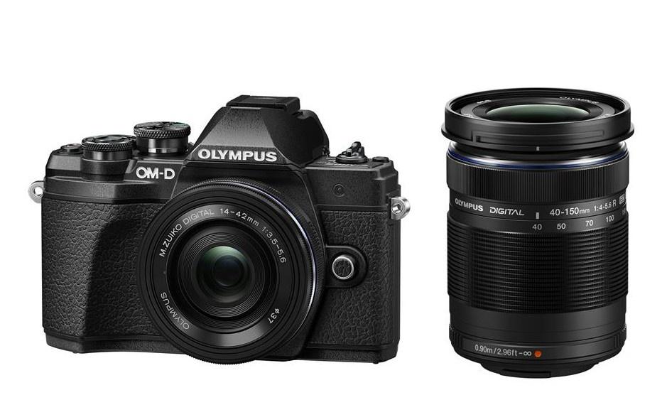 Olympus OM-D E-M10 mark III DZ 14-42 EZ / 40-150 R černý + Karta SDHC 32GB a Náhradní baterie T6