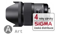 Sigma 35 mm F 1,4 DG HSM pro Sony E Mount (řada Art), Bonus 1.500 Kč ihned odečteme