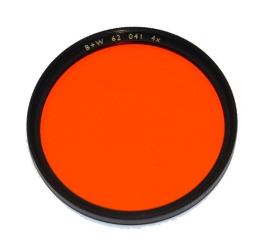 B+W 041 Red-Orange pro ČB fotografii 62 mm