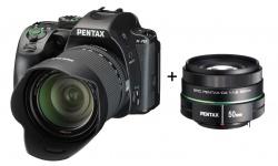 Pentax K-70 + DA 18-135mm WR černý + Objektiv Pentax 50/1,8
