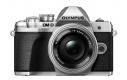 Olympus OM-D E-M10 mark III + 14-42 EZ stříbrný + Karta SDHC 32GB, Náhradní baterie, Powerbanka a Brašna