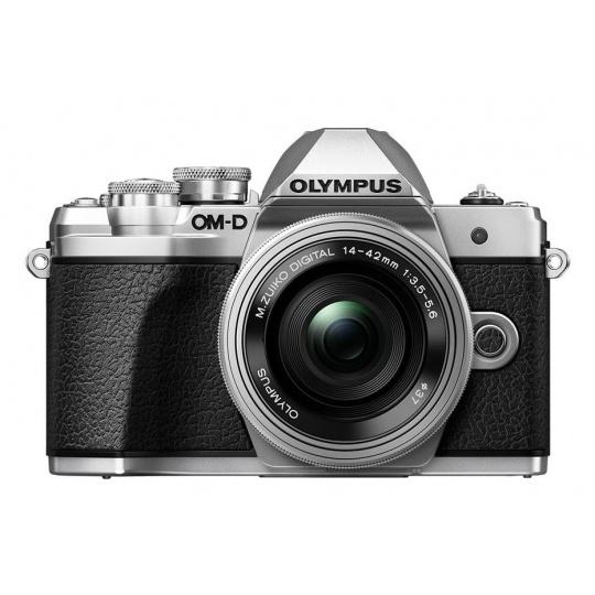 Olympus OM-D E-M10 mark III + 14-42 EZ stříbrný, Sleva 6000 Kč (zadejte slevový kupón OL6K2020) + karta SDHC 32GB