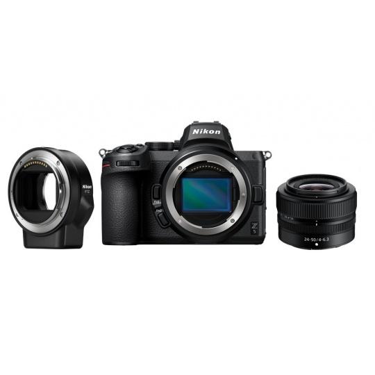 Nikon Z5 + 24-50 f/4-6,3 + FTZ + Nákupní bonus 1000 Kč (ihned odečteme z nákupu)