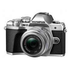 Olympus OM-D E-M10 mark III + 14-42 R stříbrný + karta SDHC 32GB