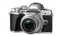 Olympus OM-D E-M10 mark III + 14-42 stříbrný + Karta SDHC 32GB a Náhradní baterie T6