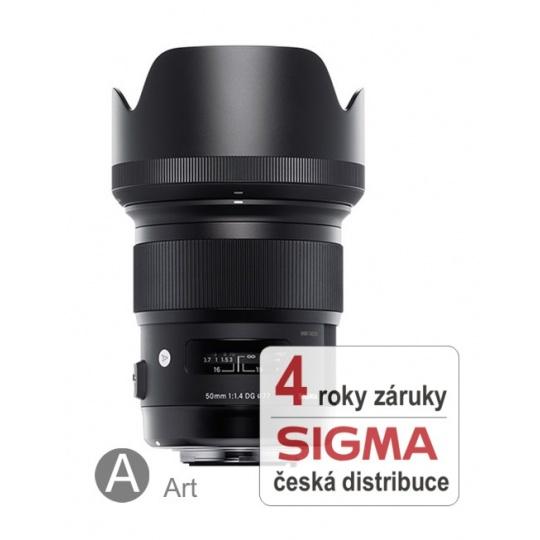 Sigma 50 mm F 1,4 DG HSM pro Nikon F (řada Art), Bonus 1.300 Kč ihned odečteme