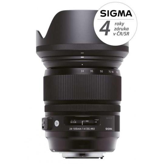 SIGMA 24-105/4 DG OS HSM ART Nikon F, Nákupní bonus 1200 Kč (ihned odečteme z nákupu)