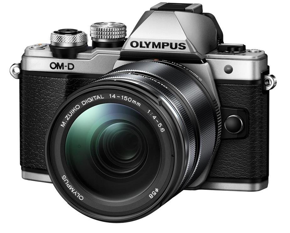 Olympus OM-D E-M10 mark II + 14-150 stříbrný + Objektiv Olympus 15/8 Cap Lens BCL-1580, Karta SDHC 16GB a Náhradní baterie T6