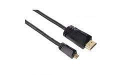 Hama micro HDMI kabel vidlice - vidlice typ D, pozlacený, 3*, 1,5 m