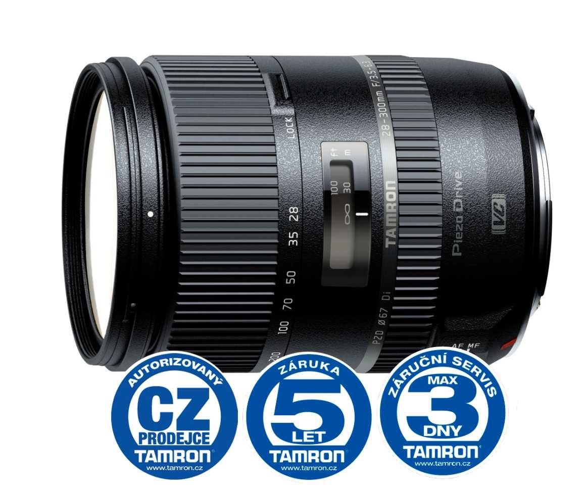Tamron 28-300mm F/3.5-6.3 Di PZD pro Canon, Bonus 1.000 Kč ihned odečteme