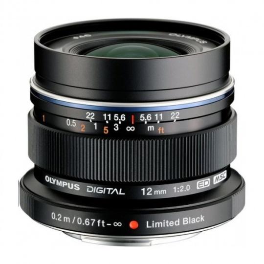 Olympus M.ZUIKO DIGITAL ED 12mm 1:2.0 černý