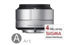 Sigma 30 mm F 2,8 DN stříbrný pro Olympus Micro 4/3 (řada Art) / Panasonic