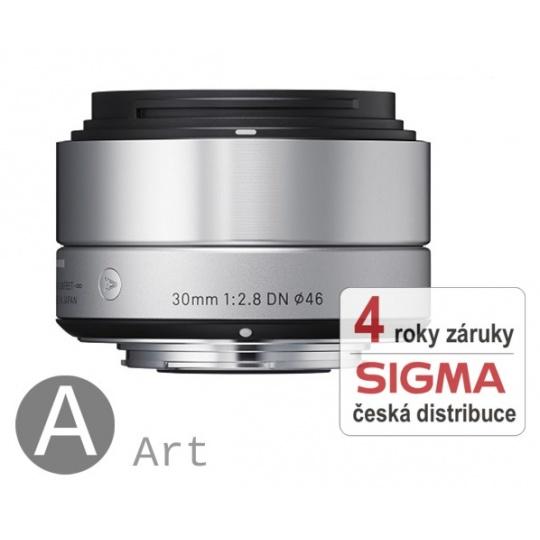 Sigma 30 mm F 2,8 DN stříbrný Micro 4/3 pro Olympus / Panasonic