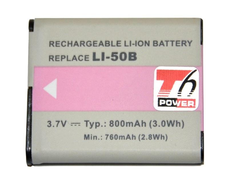 T6 Power nahrazuje Olympus LI-50B a Pentax D-LI92