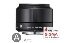 Sigma 19 mm F 2,8 DN černý pro Olympus Micro 4/3 (řada Art)
