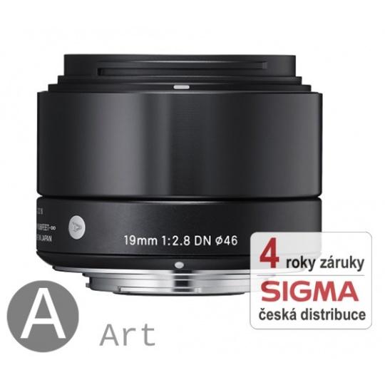 Sigma 19 mm F 2,8 DN černý Micro 4/3 pro Olympus / Panasonic