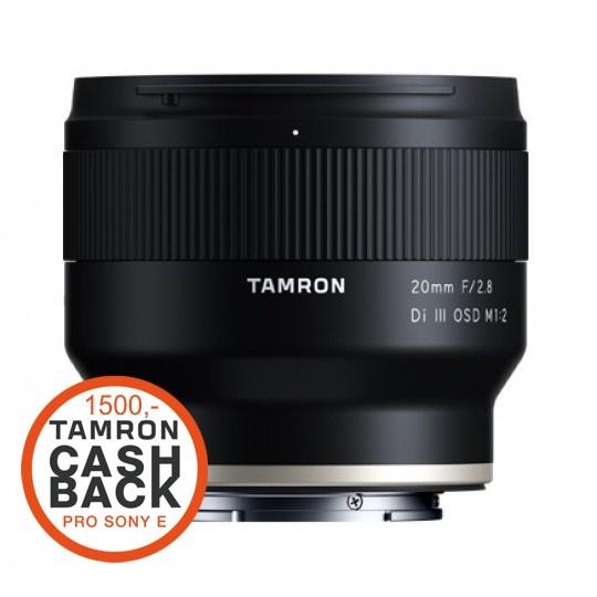 Tamron 20mm F/2.8 Di III OSD 1/2 MACRO pro Sony FE (F50SSF), CashBack 1500 Kč