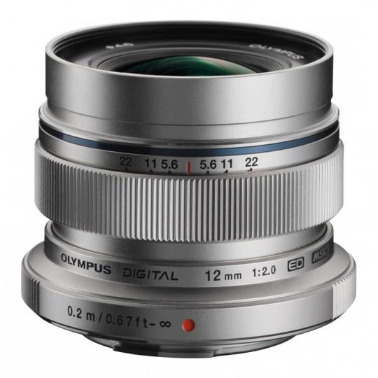 Olympus M.ZUIKO DIGITAL ED 12mm 1:2.0 stříbrný