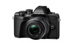Olympus OM-D E-M10 mark III + 14-42 R černý + Karta SDHC 32GB, Náhradní baterie, Powerbanka a Brašna