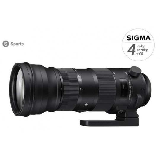 Sigma 150-600 mm f/5,0-6,3 DG OS HSM Sports pro Canon EF, Nákupní bonus 2500 Kč (ihned odečteme z nákupu)