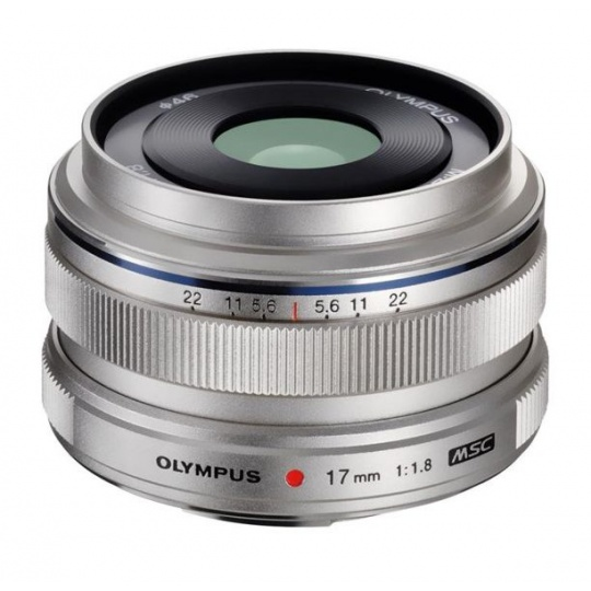 Olympus M.ZUIKO DIGITAL 17mm 1:1.8 stříbrný