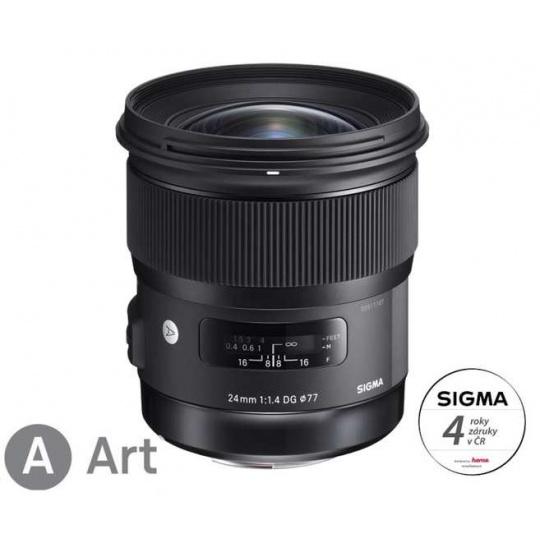 SIGMA 24/1,4 DG HSM ART Canon EF, Nákupní bonus 1200 Kč (ihned odečteme z nákupu)