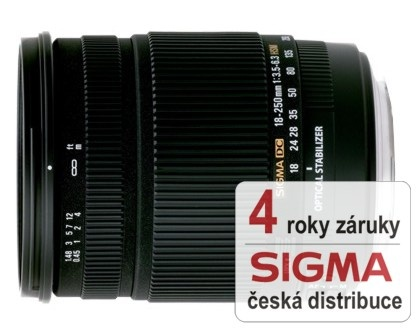 Sigma 18-250 mm F 3,5-6,3 DC Macro OS HSM pro Nikon