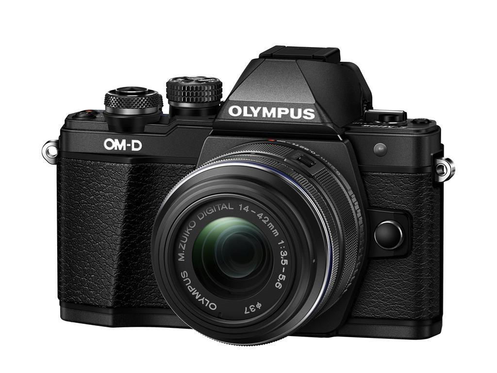 Olympus OM-D E-M10 Mark II Kit 14-42 R černý + Karta SDHC 16GB a Náhradní baterie T6