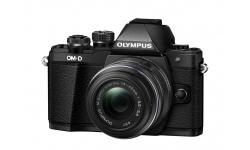 Olympus OM-D E-M10 Mark II Kit 14-42 R černý + Objektiv Olympus 15/8 Cap Lens BCL-1580, Karta SDHC 16GB a Náhradní baterie T6