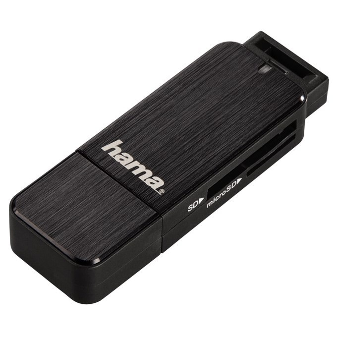 Hama čtečka karet USB 3.0 SD / microSD, černá
