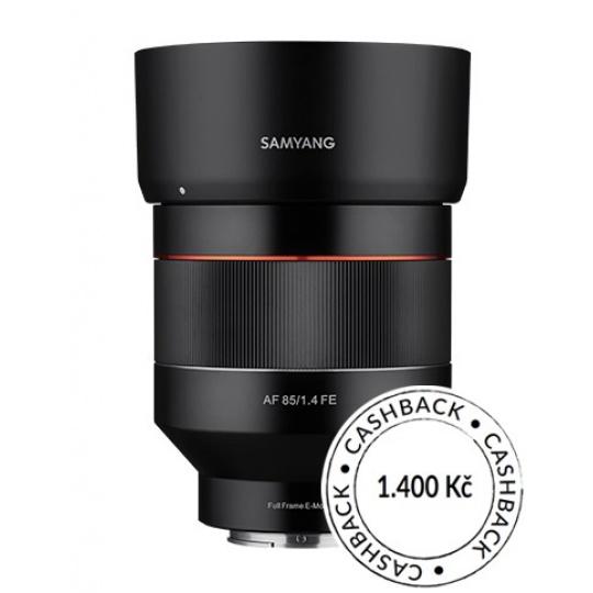Samyang AF 85mm f/1.4 Sony FE, CashBack 1400 Kč