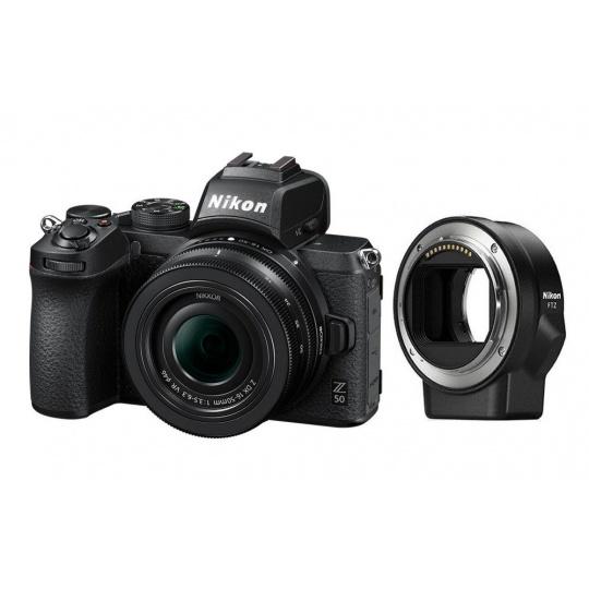 Nikon Z50 + 16-50 VR + FTZ adaptér + Nákupní bonus 800 Kč