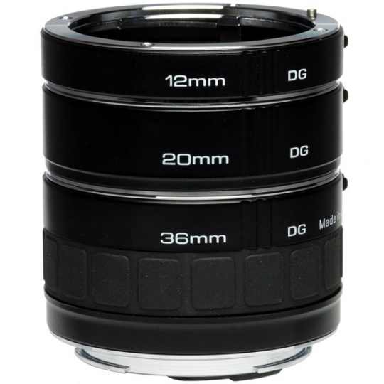Kenko sada mezikroužků na Nikon F (12, 20, 36 mm) DG
