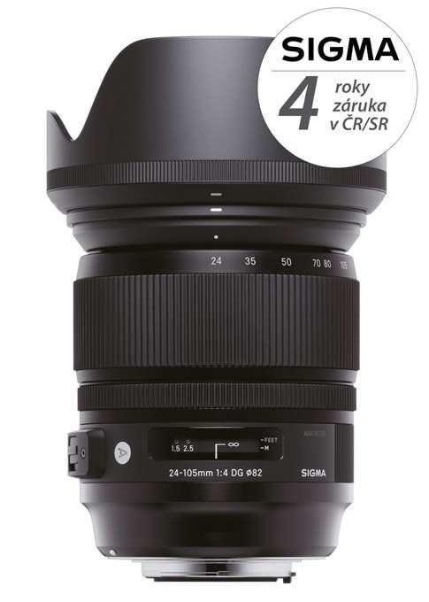 SIGMA 24-105/4 DG OS HSM ART Canon, Bonus 1.500 Kč ihned odečteme