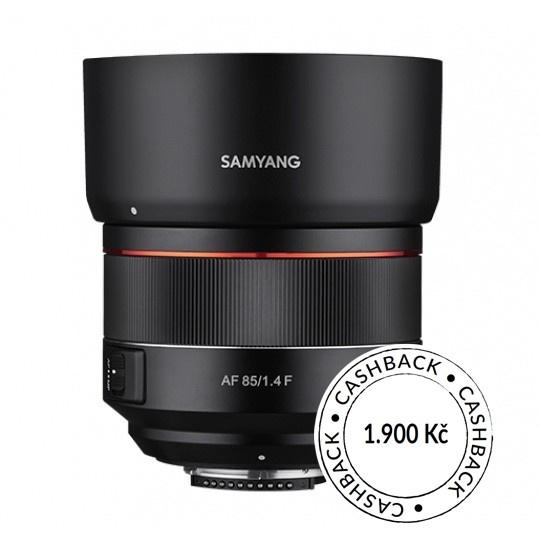 Samyang AF 85mm f/1.4 Nikon F, CashBack 1900 Kč