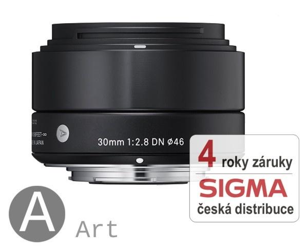 Sigma 30 mm F 2,8 DN černý pro Olympus Micro 4/3 (řada Art) / Panasonic