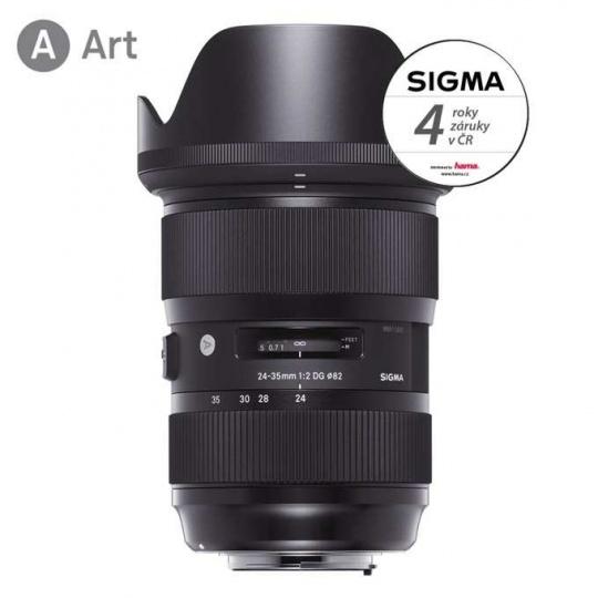 SIGMA 24-35/2 DG HSM ART Canon EF, Nákupní bonus 1200 Kč (ihned odečteme z nákupu)