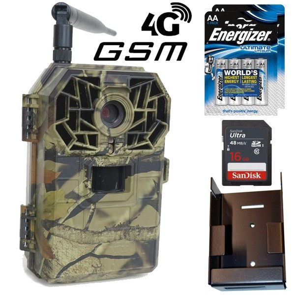 Fotopast BUNATY FULL HD GSM 4G + 16GB karta + lithiové baterie + kovový box