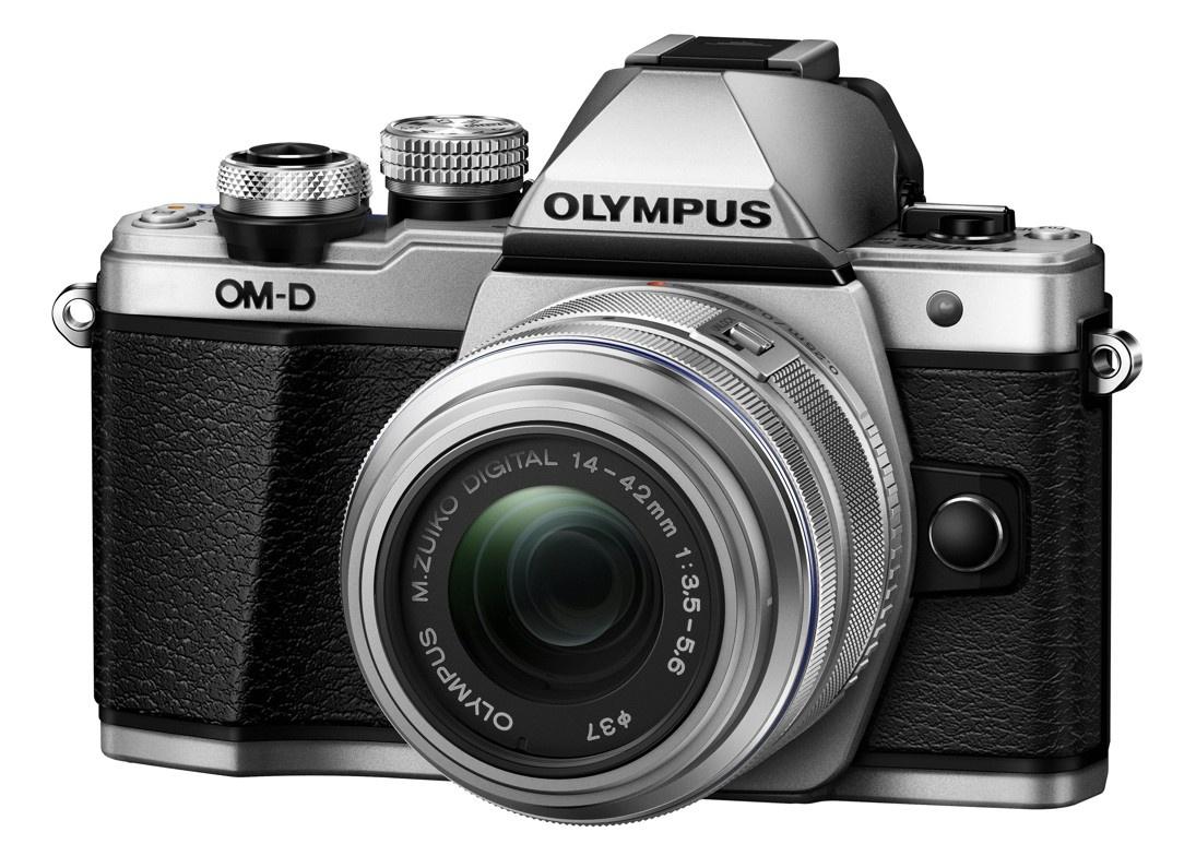 Olympus OM-D E-M10 Mark II Kit 14-42 R stříbrný + Karta SDHC 16GB a Náhradní baterie T6