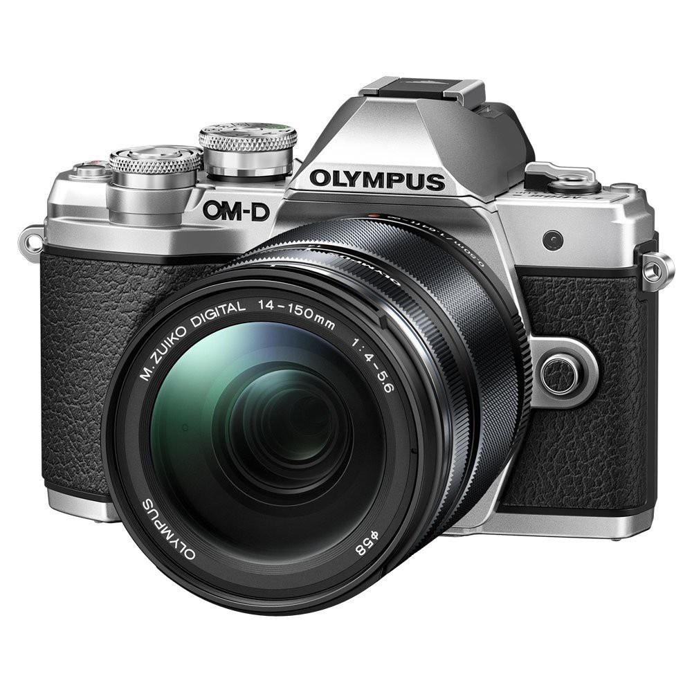 Olympus OM-D E-M10 mark III + 14-150 stříbrný + Karta SDHC 32GB a Náhradní baterie T6
