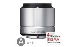 Sigma 60 mm F 2,8 DN stříbrný pro Olympus Micro 4/3 (řada Art)