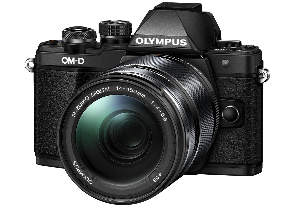 Olympus OM-D E-M10 mark II + 14-150 černý + Objektiv Olympus 15/8 Cap Lens BCL-1580, Karta SDHC 16GB a Náhradní baterie T6